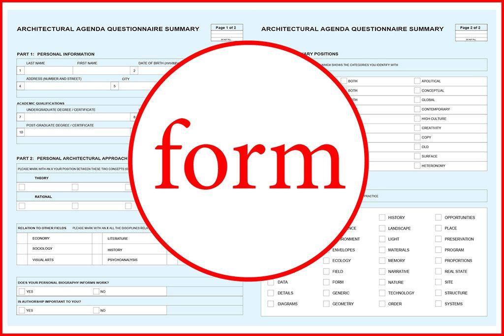 Form Formulario Questionnaire by Rodrigo Valenzuela Jerez Arquitecto