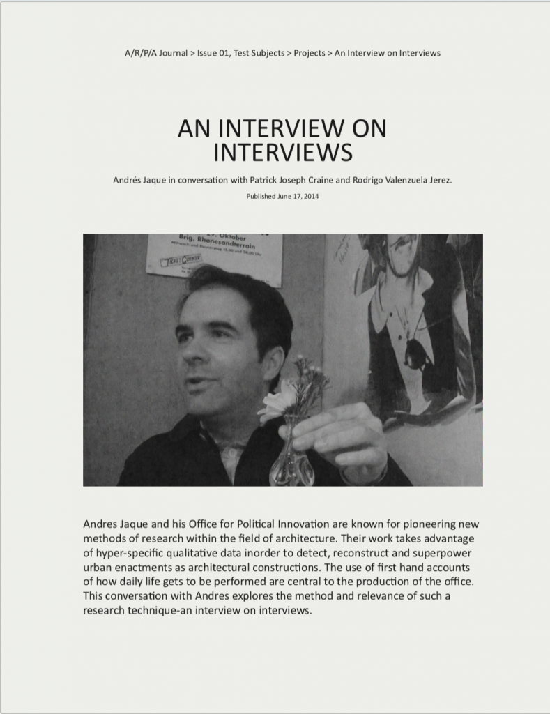 Interview on Interviews - Patrick Craine & Rodrigo Valenzuela Jerez